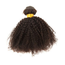 ALIMICE Hair Indian Afro Kinky Curly Hair Weaves 100% Human Hair 3 Bundles Deals Natural Color 100% Non Remy Hair Extensions