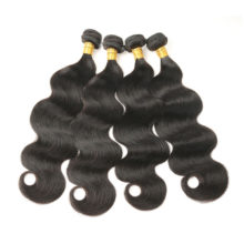 Alimice Hair Brazilian Body Wave Hair Extensions 8-30inch 100% Human Hair Weave 4 Bundles Deal Natural Color Remy Hair 4Pcs/Lot