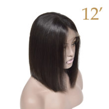 Lace Front Human Hair Wigs Short Bob Wigs Brazilian Remy Hair Glueless Pre Plucked Silky For Women 150% 13x4 Natural Black Color