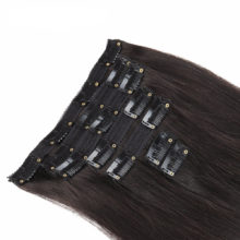 Alishow Clip in Remy Human Hair Extensions Full Head Straight 100g 14inch-24inch 7pcs Double Drawn Nature Human Hair in clips