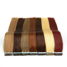 Alishow Tape In Human Hair Extensions Double Drawn Remy Tape In Natural Straight Hair On Adhesives 20pcs /set Invisible Hair