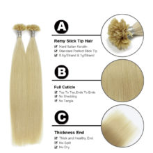 FOREVER HAIR 0.8g/s Remy Keratin U Tip Human Hair Extension With Hot Build European Fusion Hair 100s/pack 80g Free Fast Shipping