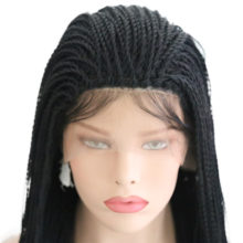 Charisma More Than 500 Braids Synthetic Lace Front Wigs Handmade 24'' 2X Twist Braids Wigs With Baby Hair For Black Women