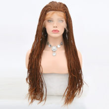 Charisma #30 Color 2X Twist Braids Wig Synthetic Lace Front Wigs 24 Inch Heat Resistant With Baby Hair For Black Women In Stock