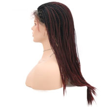 Charisma 2X Twist Braids Wig Ombre Color Synthetic Lace Front Wigs 24 Inch With Baby Hair High Quality Glueless For Black Women