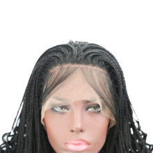 Charisma Handmade Braids Long Curly Synthetic Lace Front Wigs With Baby Hair Glueless Synthetic Lace Wigs For African American