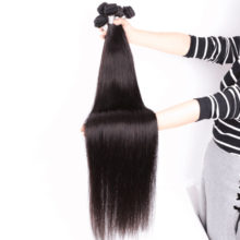 QUEEN BEAUTY 1/3/4 Pcs Lot Remy Brazilian Straight Hair Bundles Long Human Hair Weave 26 28 30 32 34 36 38 40 inch Free Shipping