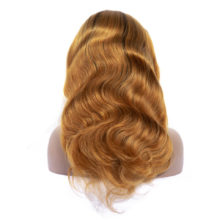 Queenlike 1B/30 Body Wave Ombre Lace Wig For Black Women Pre Plucked With Baby Hair Brazilian Remy Full Lace Human Hair Wigs