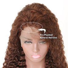 Brazilian 13X4 Deep Wave Wig Lace Front Human Hair Wigs Pre Plucked Lace Wigs For Woman Light Brown Non Remy Wig Beyo