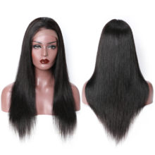Lace Front Human Hair Wigs For Black Women T Part Straight Lace Front Wig Pre Plucked Peruvian Wig With Baby Hair Remy Wigs Beyo