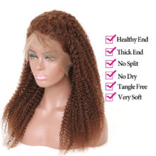 13X4 Brazilian Kinky Curly Lace Wig Glueless Lace Front Human Hair Wigs For Black Woman Pre Plucked Lace Wigs #4 Non Remy Beyo