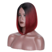 Ombre Bob Wig Brazilian Straight T1B Burgundy Short Lace Front Human Hair Wigs For Black Women Remy 13x6 Lace Frontal Wig Beyo