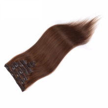 Clip In Human Hair Extensions Straight 8 Pieces/Set Remy Hair Full Head Set 160G Color #1 #2 #4 #613 UPS Shipping Free