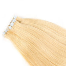 Tape In Human Hair Extensions Double Drawn Tape Human Hair Extensions  20pcs Remy European Straight hair all colors