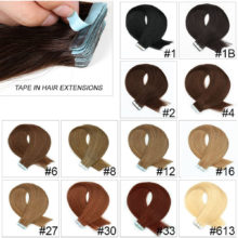Tape In Remy Human Hair 20pcs/pack 16