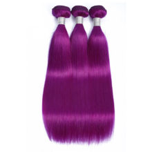 Aplus Remy Hair Straight Ombre Bundles With Closure With Baby Hair PrePlucked Peruvian Purple Color Hair Extensions With Closure