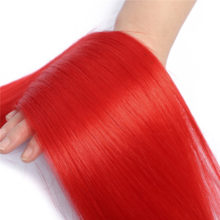 Apus Red Color Straight Ombre Bundles With Closure With Baby Hair Brazilian Remy Human Hair Bundles With Closure Pre plucked