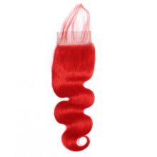 Aplus Body Wave Red Bundles With Closure With Baby Hair Peruvian Ombre Bundles With Closure Remy Hair 4x4 Closure With 3 Bundles