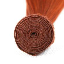Ms Love Pre Colored #350 Orange Brazilian Hair Straight Human Hair Bundles 1 Piece Non Remy Human Hair Extension 100 Gram