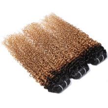 Spark Mongolian Kinky Curly Hair Bundles Remy Human Hair Extensions 1B/4/30&1B/27 Ombre Color 1/3/4 Bundles Kinky Curly Bundles