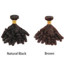 Spark Brazilian Fummi Bouncy Curly Human Hair Bundles 1/3/4 pcs Remy Human Hair Extensions Brown Curly Human Hair Weave Bundles