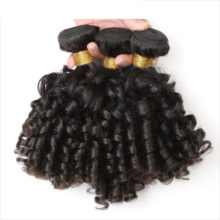 SPARK Peruvian Human Hair Bouncy Curly Frontal With Bundles Natural Black Remy Hair Human Hair Frontal With Bundles Medium Ratio